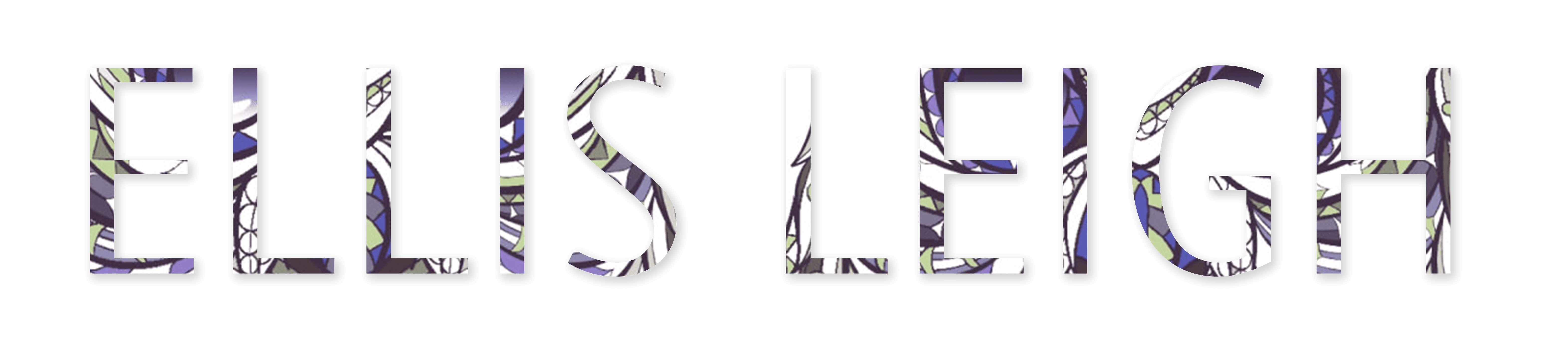 Ellis Leigh in sans serif font